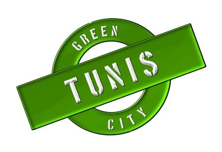 GREEN CITY TUNIS - Zeichen, Symbol, Banner fuer Prospekte, Flyer, Internet,