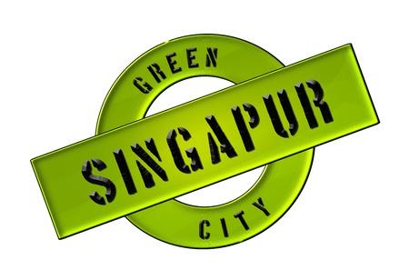 GREEN CITY SINGAPUR - Zeichen, Symbol, Banner fuer Prospekte, Flyer, Internet,