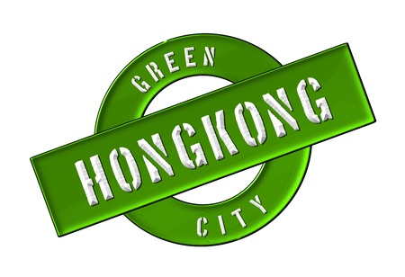 GREEN CITY HONGKONG - Zeichen, Symbol, Banner fuer Prospekte, Flyer, Internet,