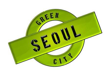 GREEN CITY SEOUL - Zeichen, Symbol, Banner fuer Prospekte, Flyer, Internet,
