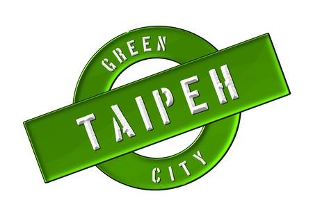 GREEN CITY TAIPEH - Zeichen, Symbol, Banner fuer Prospekte, Flyer, Internet,