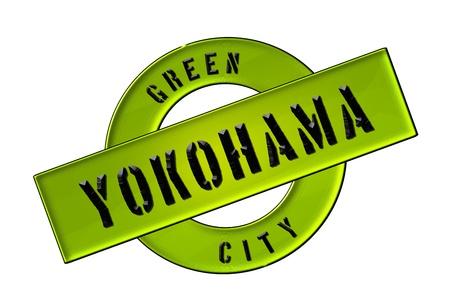 GREEN CITY YOKOHAMA - Zeichen, Symbol, Banner fuer Prospekte, Flyer, Internet,