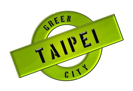 GREEN CITY TAIPEI - Zeichen, Symbol, Banner fuer Prospekte, Flyer, Internet,