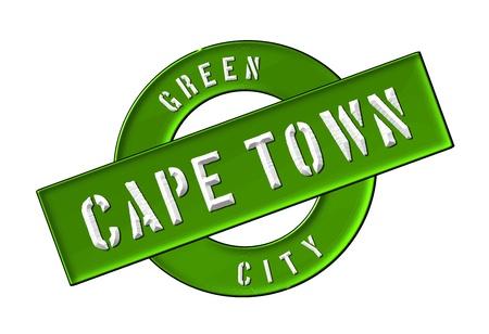 GREEN CITY CAPE TOWN - Zeichen, Symbol, Banner fuer Prospekte, Flyer, Internet,