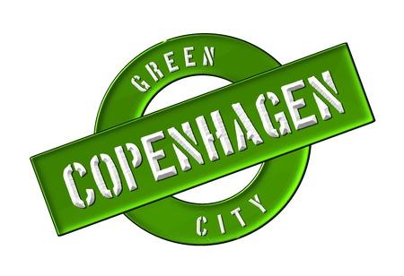 GREEN CITY COPENHAGEN - Zeichen, Symbol, Banner fuer Prospekte, Flyer, Internet,