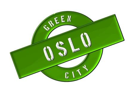 GREEN CITY OSLO - Zeichen, Symbol, Banner fuer Prospekte, Flyer, Internet,
