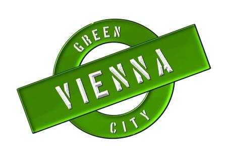 GREEN CITY VIENNA - Zeichen, Symbol, Banner fuer Prospekte, Flyer, Internet, ...