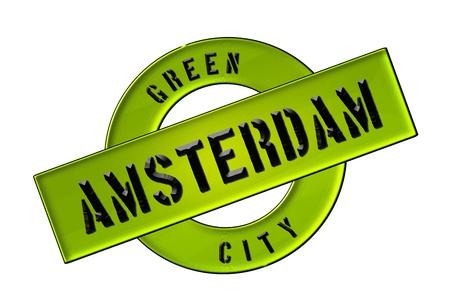 GREEN CITY AMSTERDAM - Zeichen, Symbol, Banner fuer Prospekte, Flyer, Internet, ...