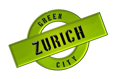 GREEN CITY ZURICH - Zeichen, Symbol, Banner fuer Prospekte, Flyer, Internet,