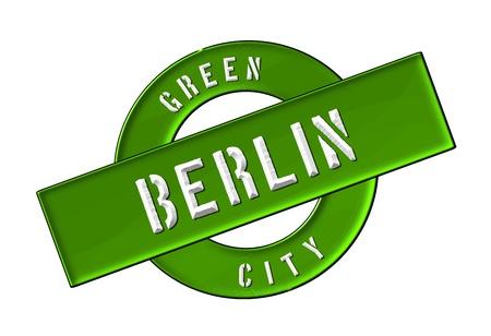 GREEN CITY BERLIN - Zeichen, Symbol, Banner fuer Prospekte, Flyer, Internet,