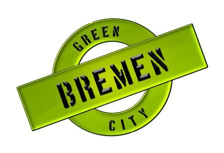 GREEN CITY BREMEN - Zeichen, Symbol, Banner fuer Prospekte, Flyer, Internet,