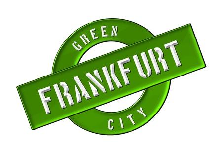 GREEN CITY FRANKFURT - Zeichen, Symbol, Banner fuer Prospekte, Flyer, Internet,