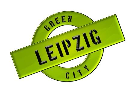 GREEN CITY LEIPZIG - Zeichen, Symbol, Banner fuer Prospekte, Flyer, Internet,