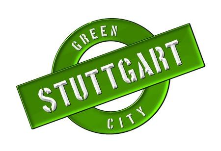 GREEN CITY STUTTGART - Zeichen, Symbol, Banner fuer Prospekte, Flyer, Internet,