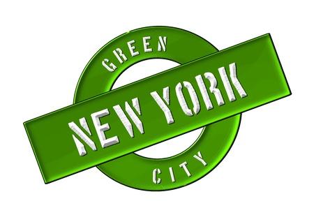 GREEN CITY NEW YORK - Zeichen, Symbol, Banner fuer Prospekte, Flyer, Internet,