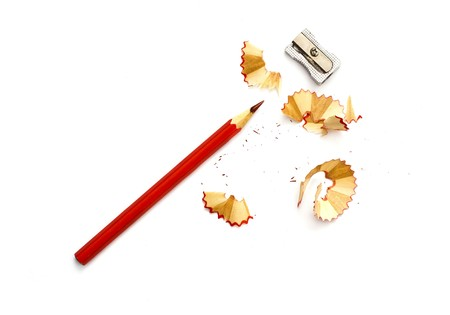 sharpened pencil shavings