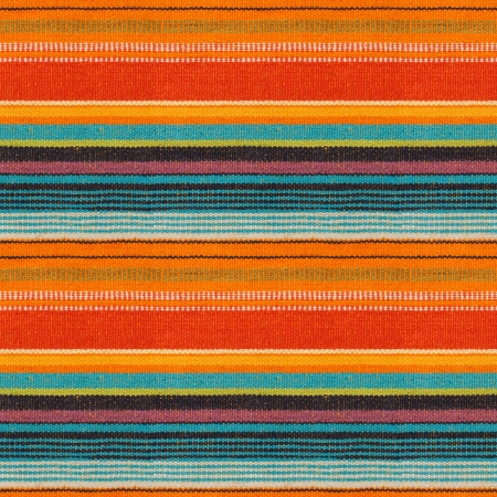 Textile Detail Seamless Background with Mexican Color