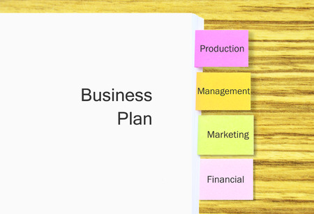 Stack Of A4 Paper With Colorful Tagging For Easy Reference For Business Plan In Business Concept