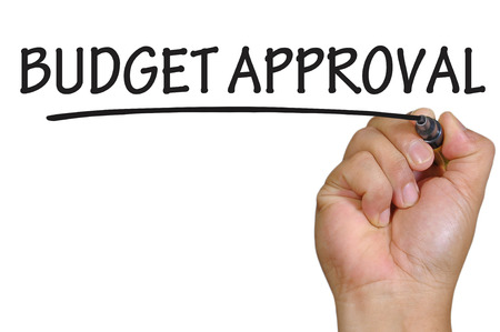 hand writing budget approval