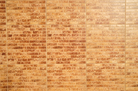 Orange Brick Wall on a Sunny Day