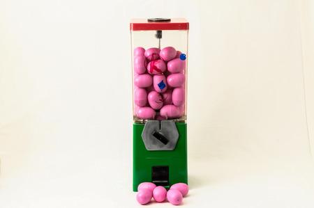 Vintage Eggs Slot Machine on White Background