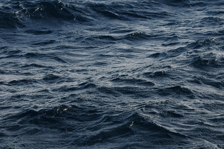 Water Texture Deep Blue Ocean Surface with Waves