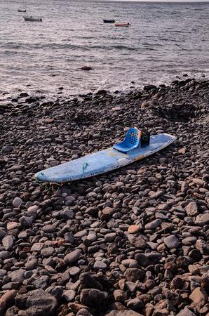 Handmade Modified Surf Board into a Kayak Boat