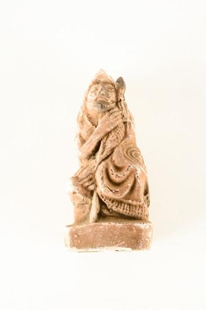 Rare Unusual Mexican Vintage Mayan Clay Sculpture Statue