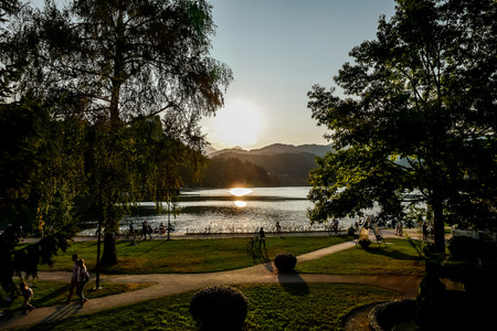 Photo for park at night, beautiful photo digital picture - Royalty Free Image