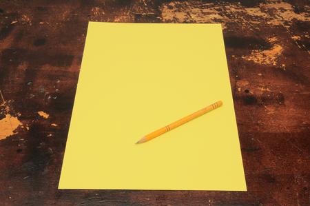 Photo pour Exam Concept Picture Paper Sheet on a Wooden Table - image libre de droit