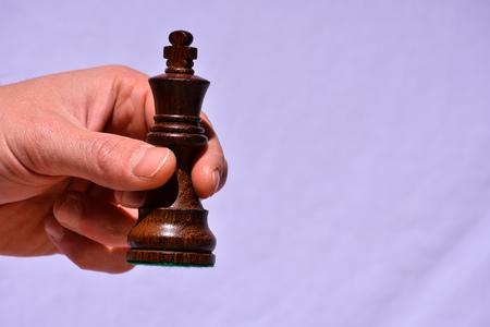 Photo pour Photo Picture of the Classic Wooden Chess Piece - image libre de droit
