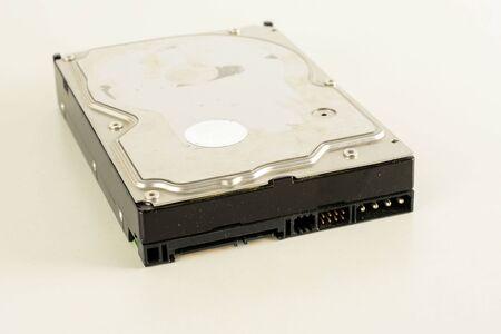 Photo pour Close up of hard disk's internal mechanism hardware - image libre de droit
