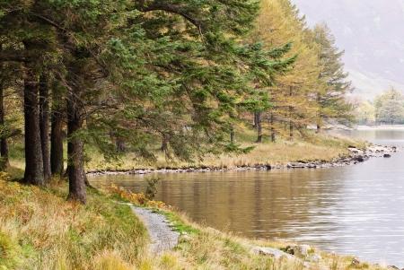 Butteremere walk along lake.