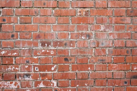 Photo pour Brick wall, old texture of red stone blocks. Background. - image libre de droit