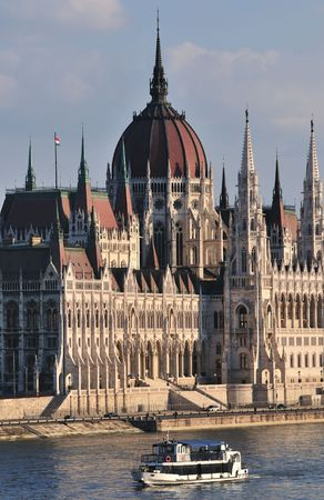 The Hungarian Parliament, an immense piece of neo-Gothic grandiloquence was build over a period of two decades (1884-1904) by the architect Imre Steindl. It is the third largest parliament building in Europe.