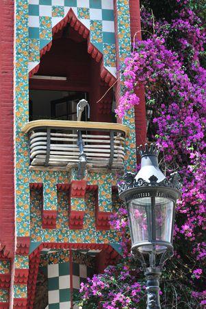 Balcony detail from Casa Vicens at Barcelona (Spain).