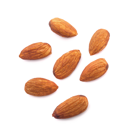 Photo for Almonds isolated on white background - Royalty Free Image