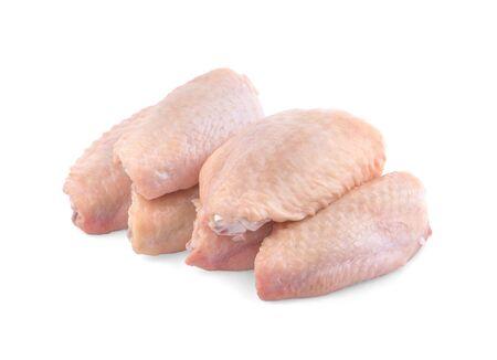 Photo pour raw chicken wings on a white background - image libre de droit
