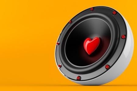 3d render of loving music concept
