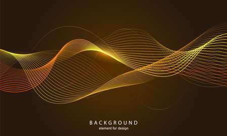 Illustration pour Abstract wave background. Element for design. Digital frequency track equalizer. Stylized line art. Colorful shiny wave with lines created using blend tool. Curved wavy line smooth stripe Vector illustration. - image libre de droit