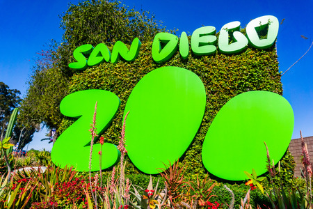 March 19, 2019 San Diego / CA / USA - Sign at the entrance to San Diego Zoo, Balboa Park