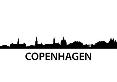 detailed vector skyline of Copenhagen