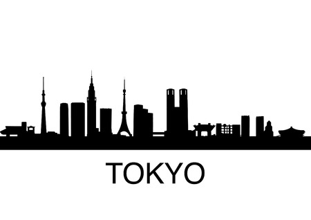 detailed illustration of Tokyo, Japan