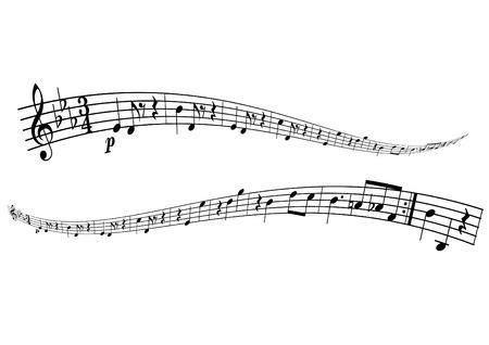 illustration of melody strips