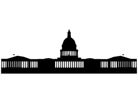 Illustration of the U.S. Capitol, Washington D.C.