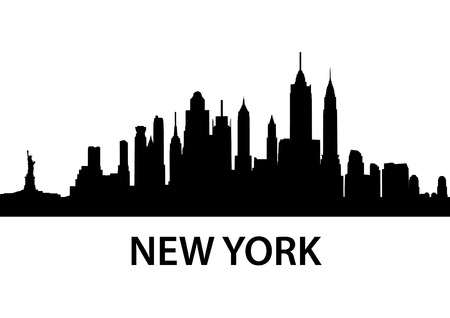 detailed silhouette of New York City