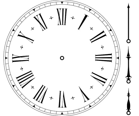 Illustration pour illustration of an old clock face - image libre de droit