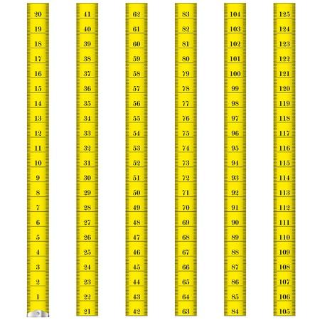Illustration pour illustration of a yellow measure tape used by tailors - image libre de droit