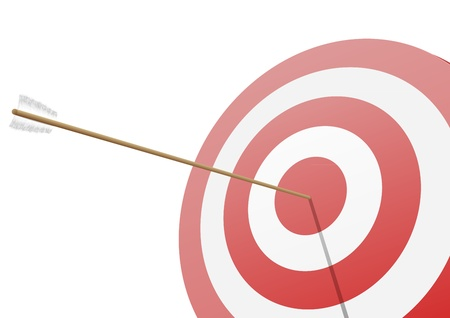 illustration of a red target with an arrow hitting the center
