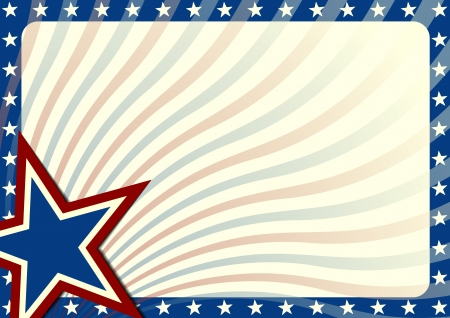 detailed background illustration with stars border and american flag elements